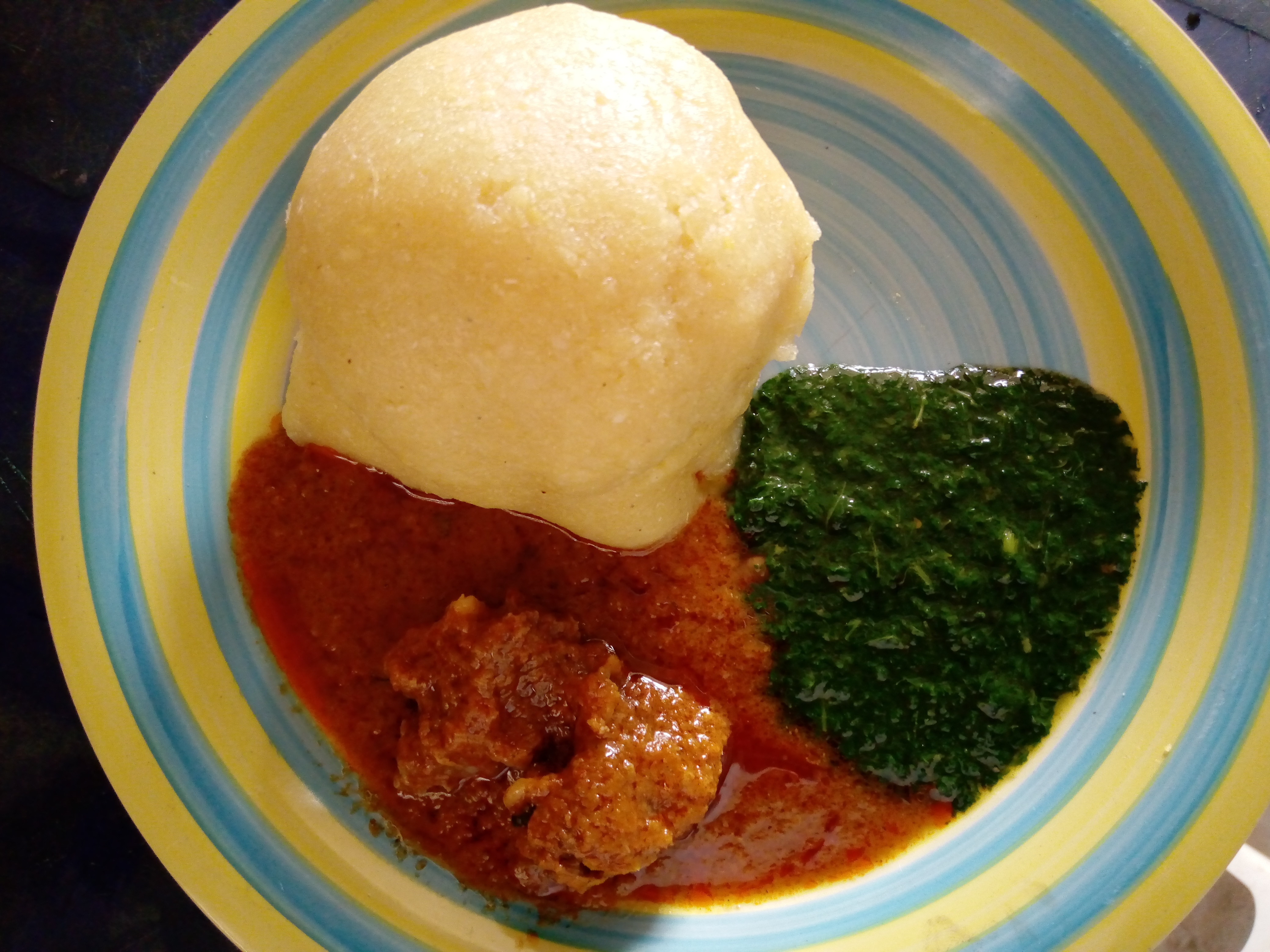 Local Guides Connect - Eba with ewedu and soup with meat.season 2. - Local  Guides Connect