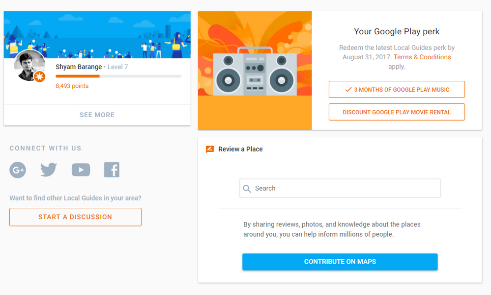 Re: New perk: Google Play music free subscription for 3 months for Local  Guides Level 5+