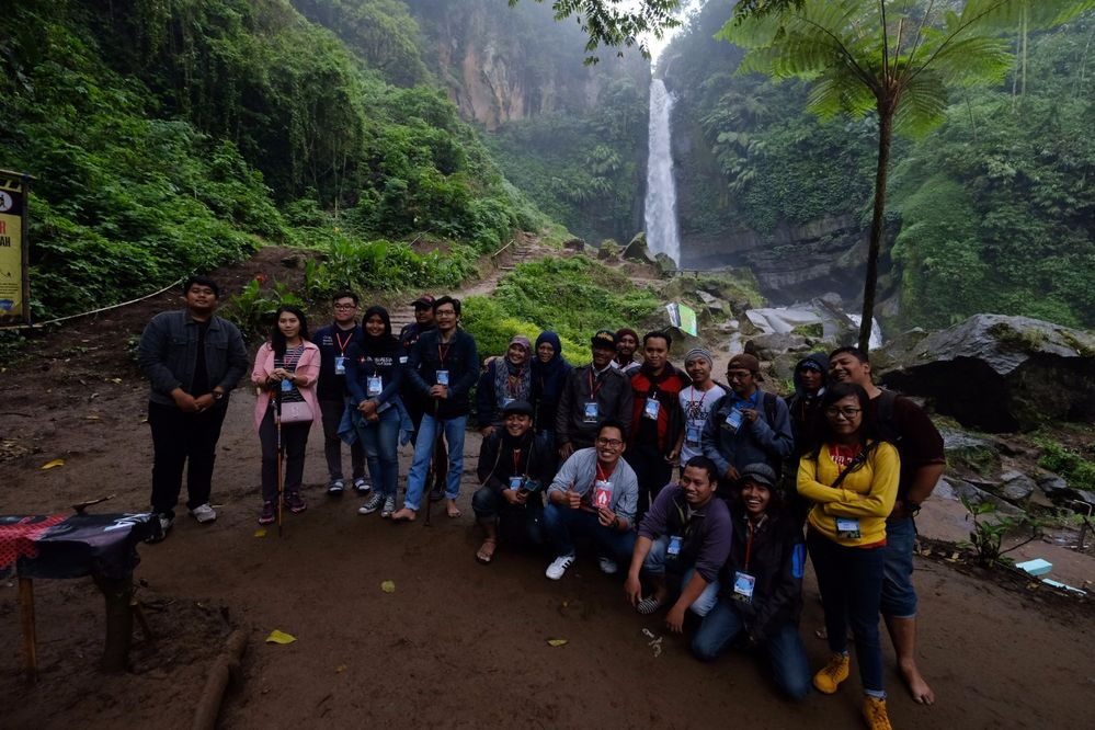 geowalk in Coban Talun Waterfall