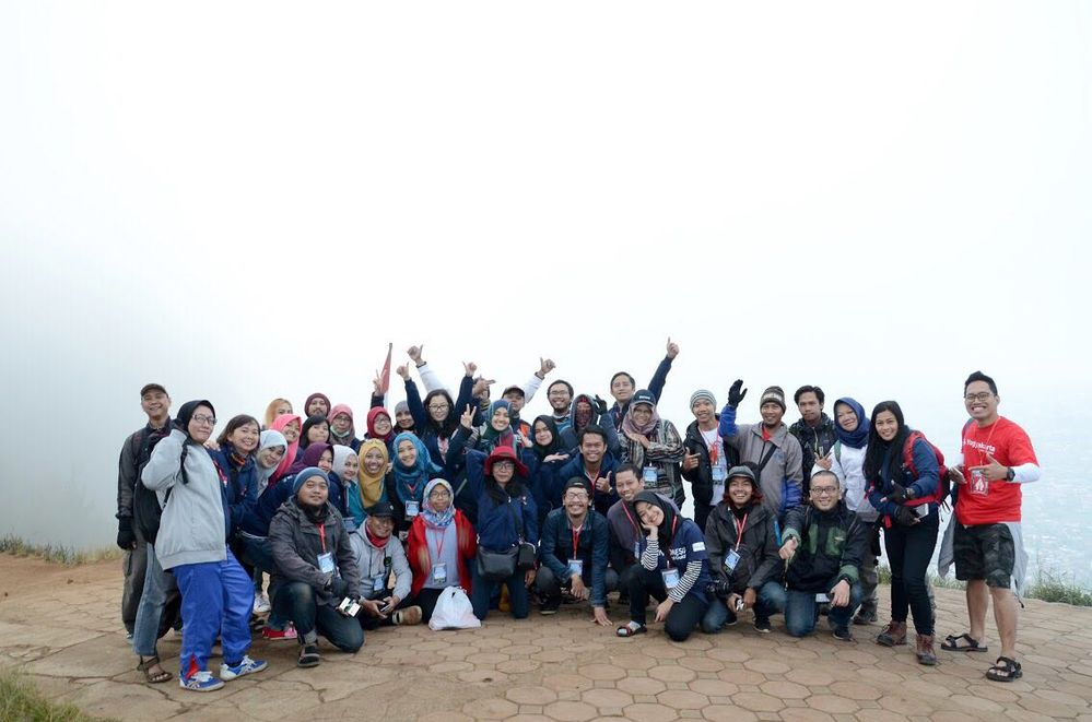Indonesia Local Guides before Mount Banyak Geowalk