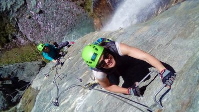 Image Caption: Climb a waterfall at Wildwire Wanaka