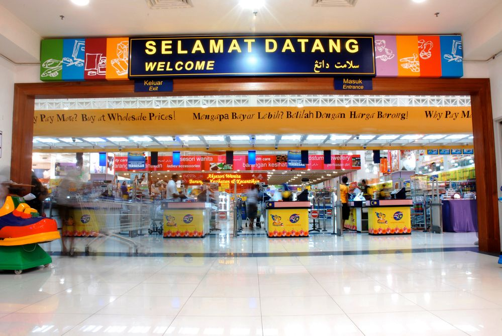 Mydin wholesale checkout counters