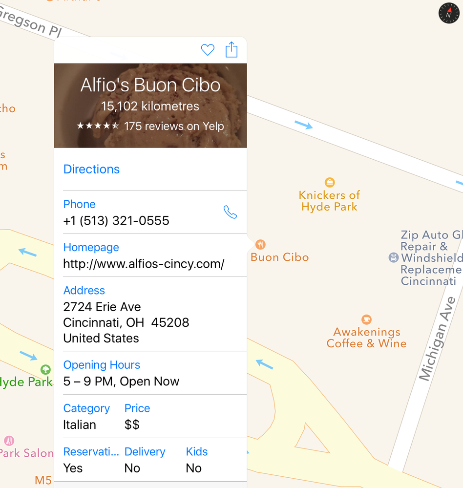 Alfio's Buon Cibo on Apple Maps has been around for a while, but Google found it incredibly hard and objectionable to add it.