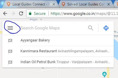 local guides connect google map place names in tamil are incorrect