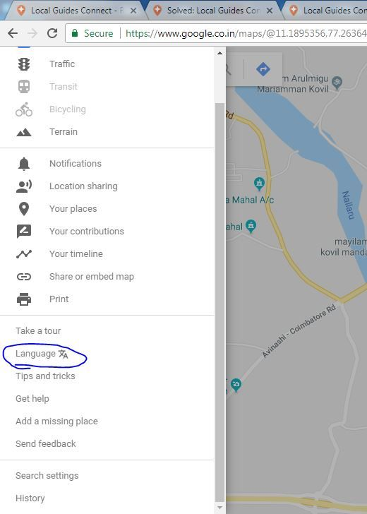 Local Guides Connect - Google map place names in Tamil are incorrect ...