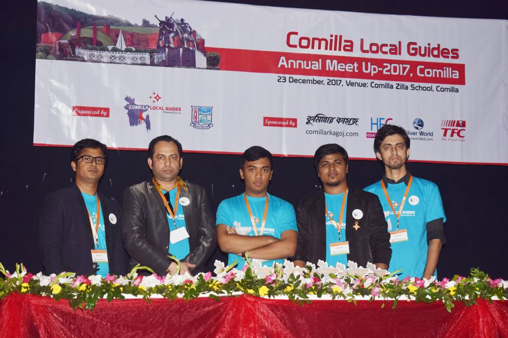 Comilla Local Guides Team with Moderators from Chittagong (Hossain Jaber)and Jamalpur(Shahed Sultan)