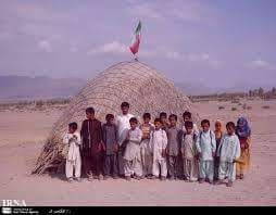 Rural Children's Classroom in Balochistan Iran Wicker Chamber and Wardrobe.
