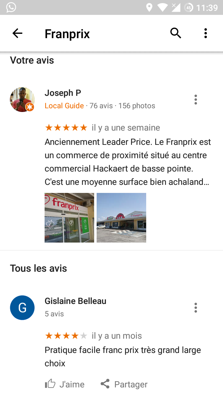local guides connect mon avis n appara t dans google maps local guides connect. Black Bedroom Furniture Sets. Home Design Ideas