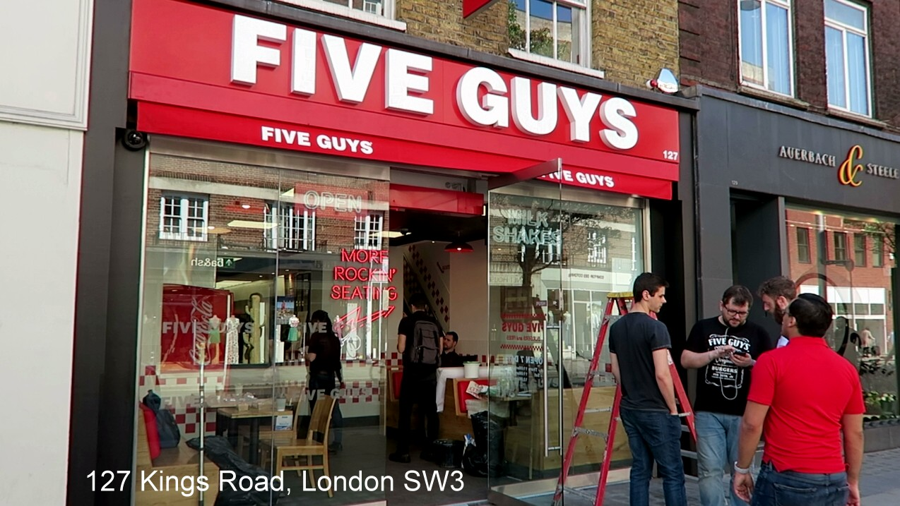Local Guides Connect Five Guys Opening On The Kings Road London Local Guides Connect