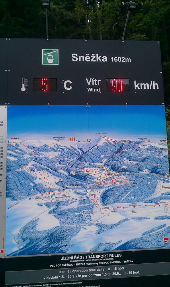 Weather on Sněžka mountain