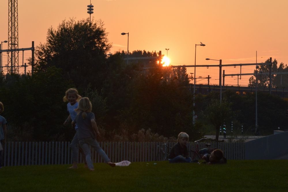Sunset in Amsterdam Science Park