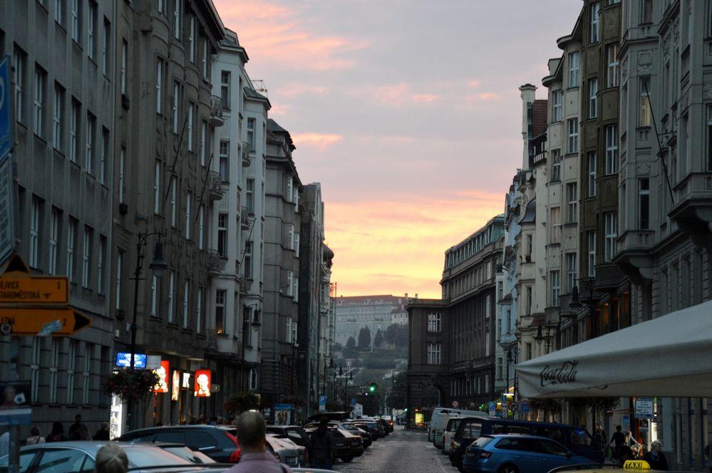 Sunset in Prague last summer