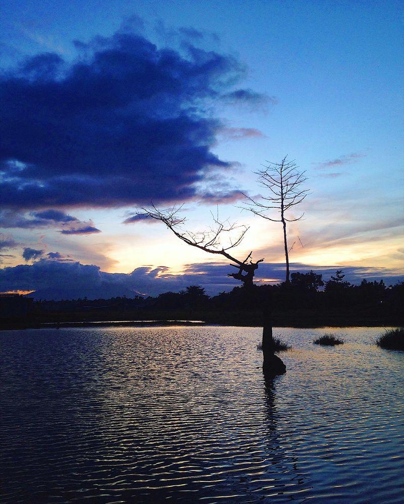 Sunset at lagoon near home