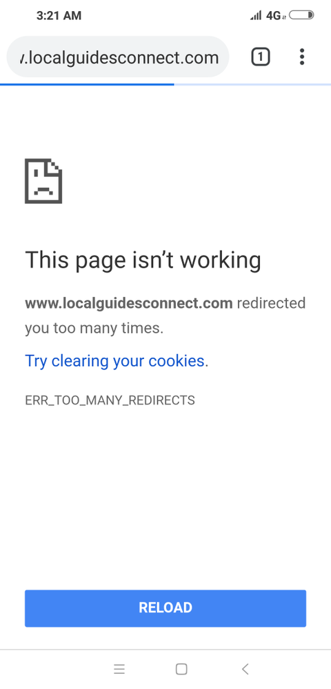 Local Guides Connect - Too many redirects - Local Guides Connect