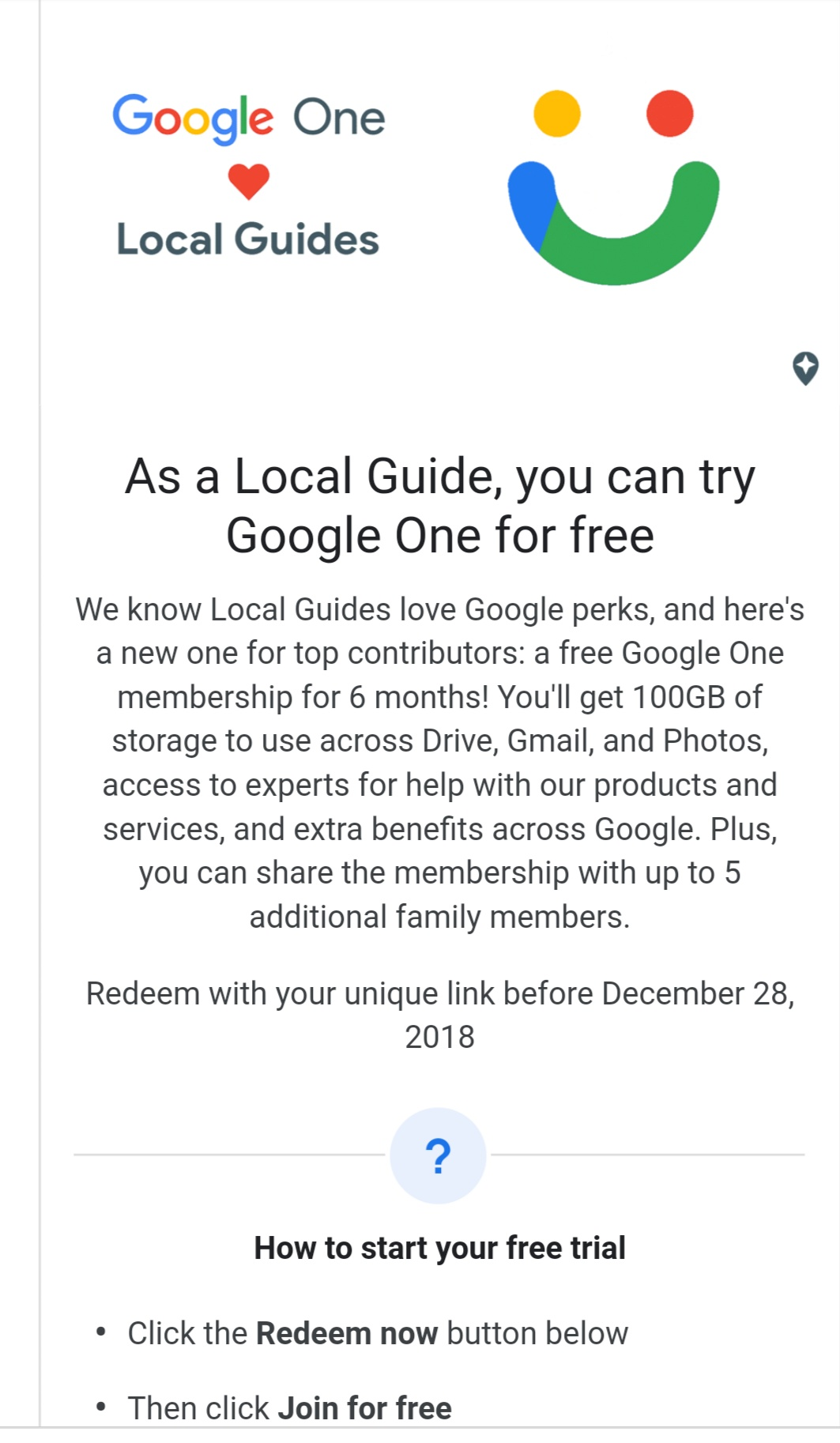 Solved: Local Guides Connect - How to Redeem Google One Offer