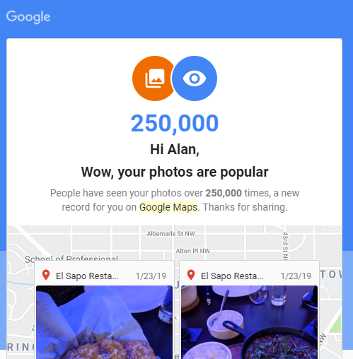 I never planned on being a Google guide.