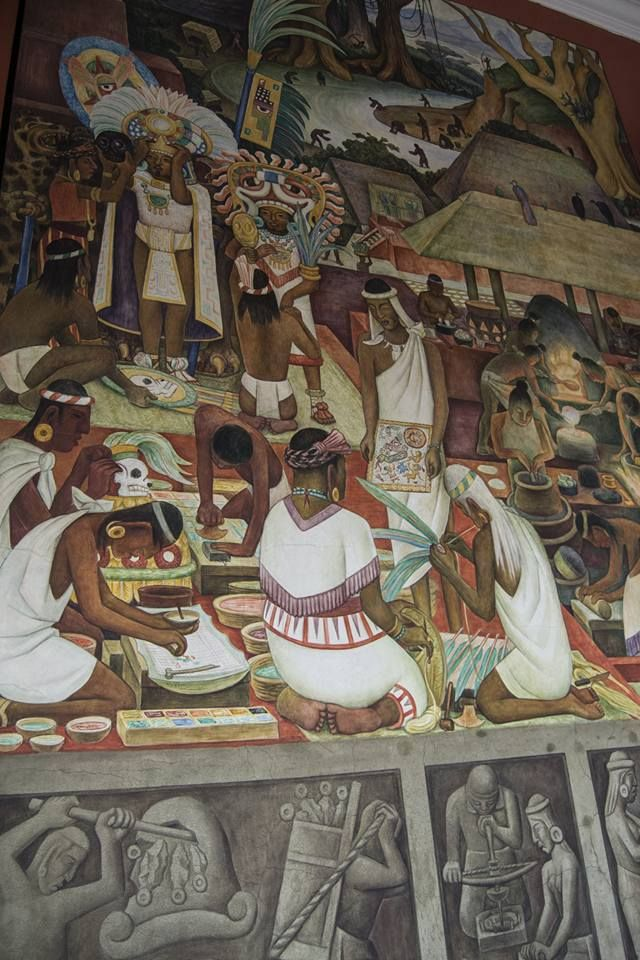 Local Guides Connect Diego Rivera Aztec Mural S At Palacio