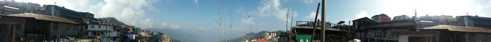 Panorama View from Darjeeling Hotel
