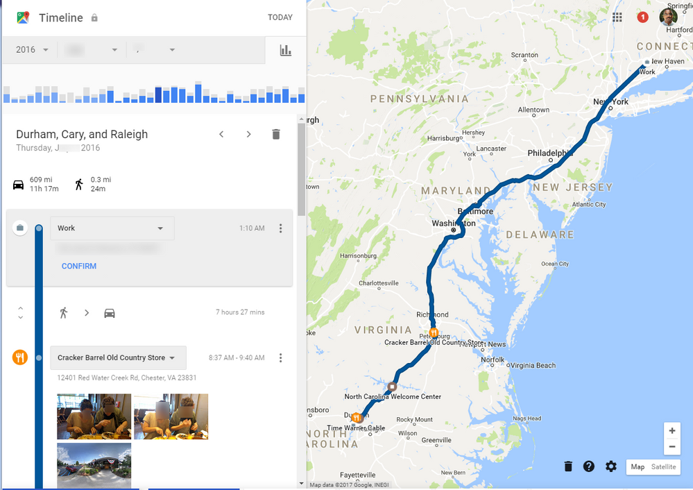 Local guides connect tax time with google maps timelines local the beauty of the timeline feature in google maps easily supports mileage tracking when that business trip you forgot to log in your tax software needs publicscrutiny Image collections
