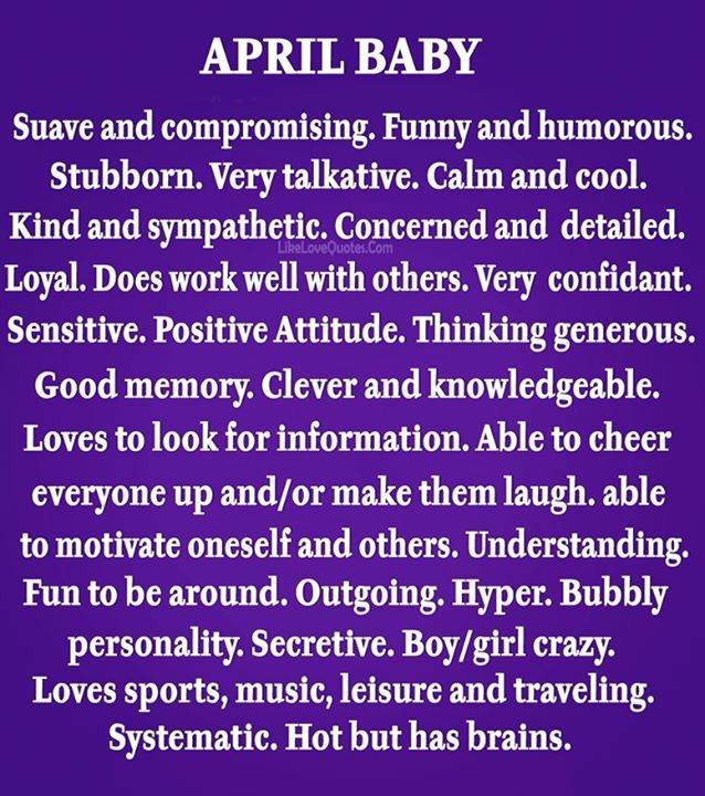 Happy 1 Month Old Baby Girl Quotes: Happy Birthday April Babies