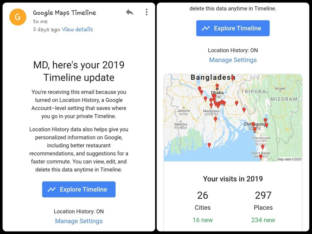 Local Guides Connect My Google Map Timeline History 2019 Local