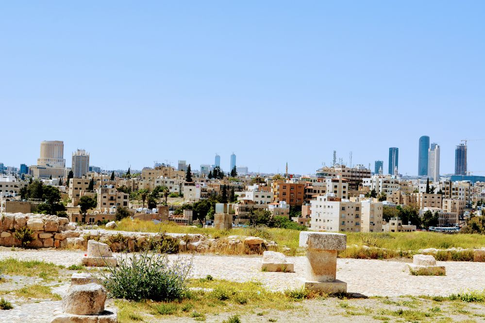 view of modern Amman from the site