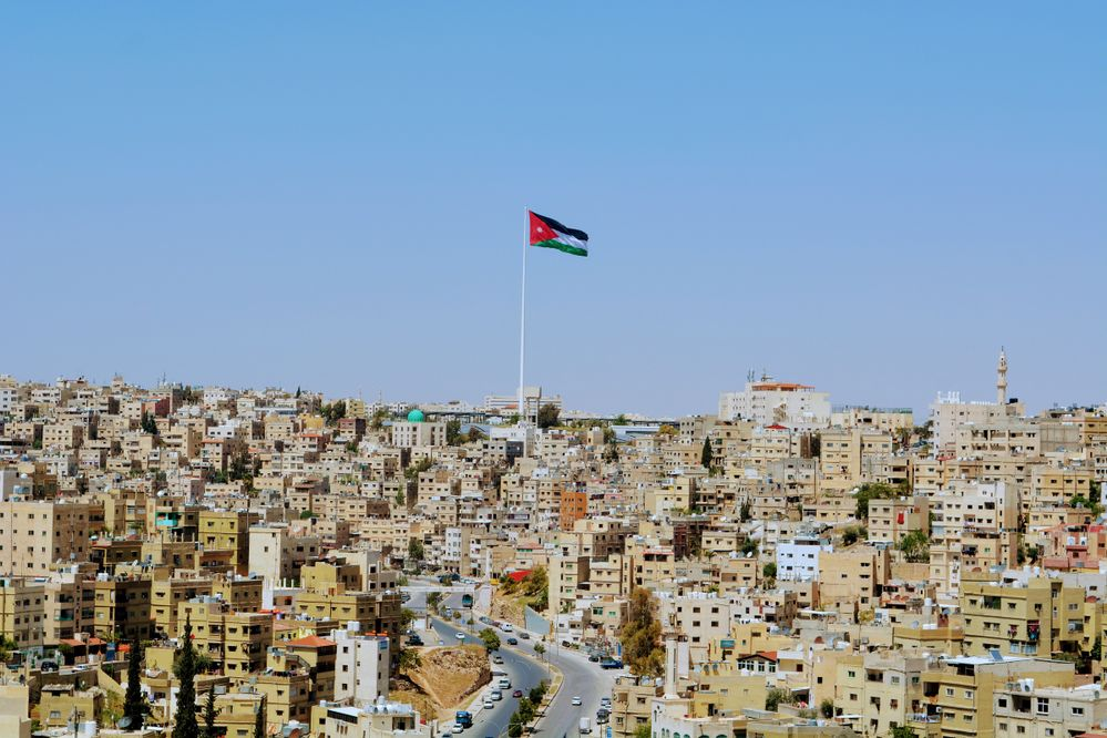 Jordan Flag 126.8  meter high  , 60*30 = 1800 square meter