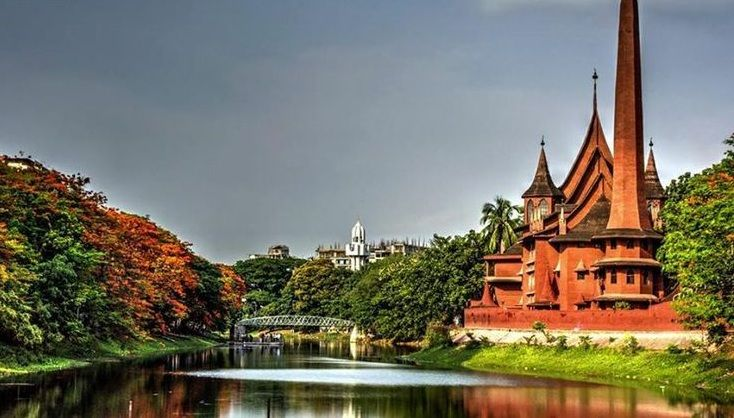 A view of Dhanmondi Lake, Dhaka