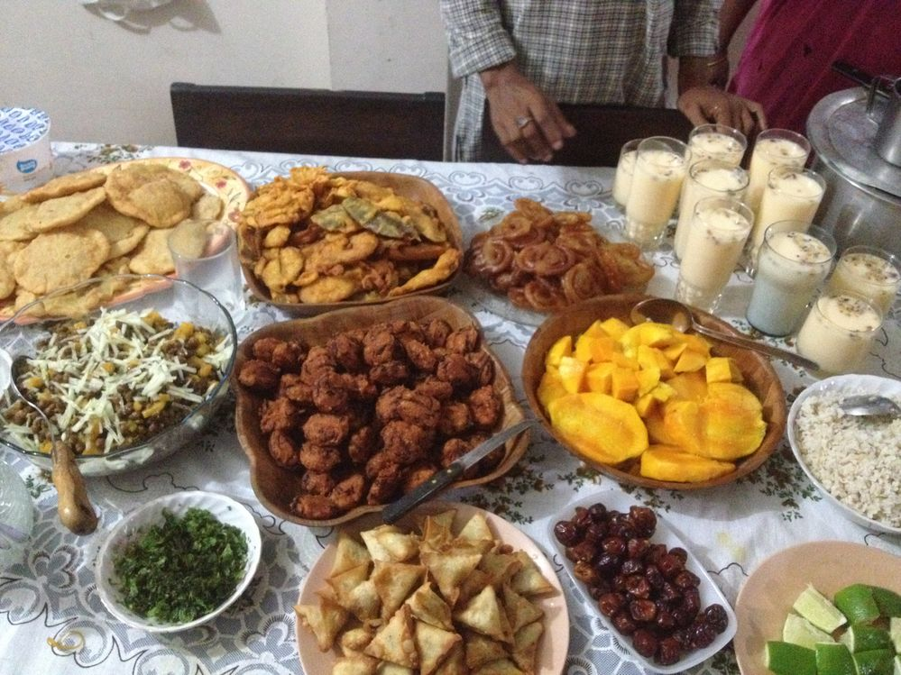 Last year, during Ramadan, iftar hosted by my sis-in-law