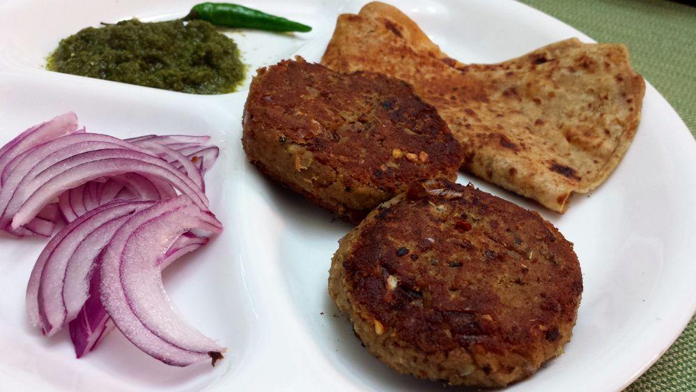 Paratha and Shami Kabab