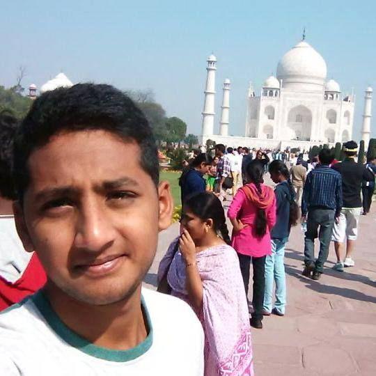 me at Taj mahal ,7 th wonder of the World