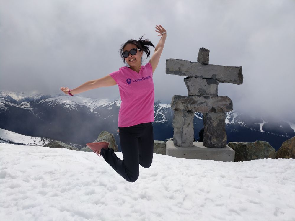 Jumping at the top of the World!  Whistler, B.C.